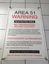Area 51 Warning - Restricted Area poster