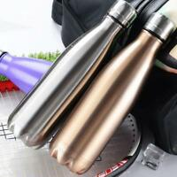 Thermos Vacuum Flask Insulated Drink Water Bottle Cup Steel Double Wall 500ml Pr