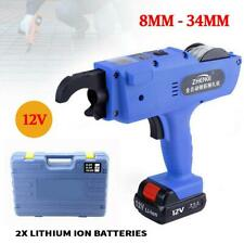 Automatic Handheld Rebar Tier Tool Tying Machine Strapping 8 34mm Blue Color 12v