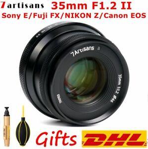 7Artisans 35mm F1.2 II Large Aperture Lens For Sony E/Fuji FX/NIKON Z/Canon EOS