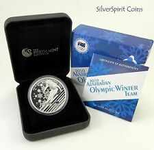 2010 $1 WINTER OLYMPIC TEAM  Australian Silver Proof Coin