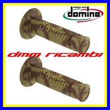 Manopole DOMINO A260 CAMO DESERT Moto Cross Enduro Motard Marrone Mimetiche