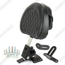 Adjustable Plug-In Diamond Driver Rider Backrest For Harley Touring FLHR FLHX