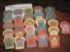 Learning Alphabet Finger Puppets - Constructive Playthings - Felt - 26 Puppets