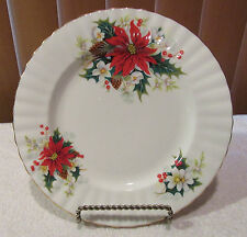 "Royal Albert Poinsettia Christmas Pattern 8 1/8"" Salad Plate(s)"
