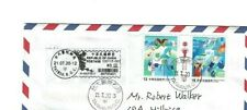 """TAIWAN: """"TAIWAN CAN HELP"""" FIRST DAY COVER with Pair of SPECIAL STAMPS CDS Used"""