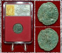 Ancient Roman Empire Coin Of VALENS Emperor Dragging Captive Dramatic Scene Coin
