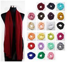Chiffon Schal 23 Unifarben Stola Tuch elegant schlicht festlich casual Cape
