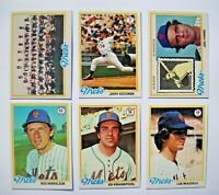 1978 Topps New York Mets Complete Team Set (27 cards) Near Mint to Mint