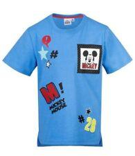 Camisas y camisetas de niño de 2 a 16 años azules Disney de 100% algodón