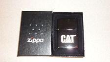 Black ice zippo lighter Caterpillar brand CAT Logo  lighter made in USA