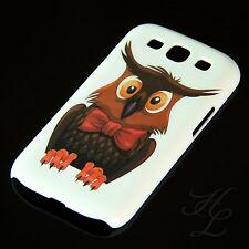 Samsung Galaxy S3 NEO Hard Handy Schale Case Schutz Hülle Eule Schleife Owl
