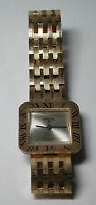 GARON Antique Reno RETRO Wrist Watch 17 Jewels Gold Dial Metal Band #YY118