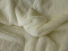 ONE METRE : White Faux-Fur Fabric - Soft  - inc 1st class  post