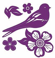 Damask Toil Songbird Shadows 25 Wallies Birds Flowers Shadow Sticker Wall Decals