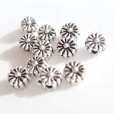40 pz - Perline in argento tibetano - 4,5 x 3,5 mm