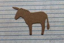4 Bare chipboard die cuts small donkey mule diecuts
