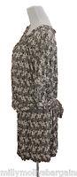 New Brown Black White Maternity NEXT Dress Long Top Size 16 14 12 10 RRP £32