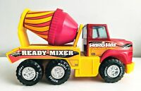 "VINTAGE NYLINT CORP. ""HARD HAT READY MIXER"" METAL & PLASTIC TOY TRUCK 1980's"