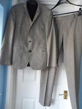 "Ben Sherman black beige men`s 2-piece suit chest size 40"" waist 34"""