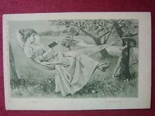 ARTIST SIGNED POSTCARD / CARE VOSS / LOVE & AMOR / 1900