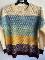 ST. John's Bay Women Multicolor 100% Acrylic Long Sleeve Cardigan Sweater US PXL
