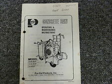 Pro Cut E30-2ESP E30-4ESP E35ESP Concrete Saw Owner Operator Maintenance Manual