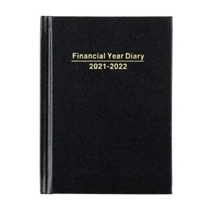 2021 2022 Financial Year Diary Black Hard Cover Week To View A6