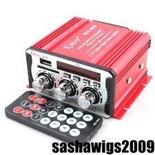 12V Digital Audio Output Power Car Bike Amplifier Bass SD USB CD FM Player