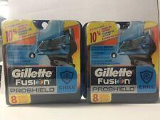 Gillette Fusion Proshield Chill Men Razor Blade Refills 16 Count Factory Sealed