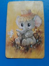 playing cards swap.One card, Blank Back,  Elephant.