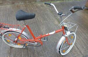 DDR MIFA Fahrrad Klappfahrrad Rad 20 Zoll Minirad Gepäckträger vorn hoher Lenker
