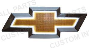 GOLD Front Emblem Grille Bowtie LED Light Up Replaces 22829421 Fits 07-13 Chevy