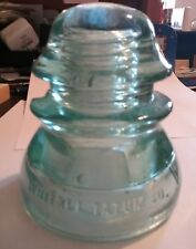 Glass electrical telephone insulator  Whitall Tatum Co, No.1 made in U.S.A. I #6