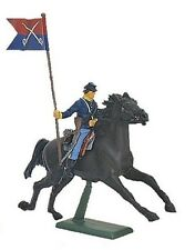 Civil War Toy Soldiers Britains Union Cavalry Flag Bearer 1/32 Painted Plastic