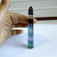 65-70mm AAA Natural Fluorite Quartz Crystal Wand Point Rock Stone Healing Reiki