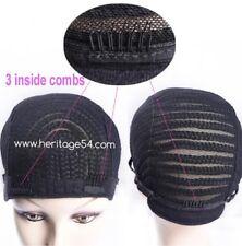 Simbi Braided Crochet Cap Cornrow Wig with adjustable band & combs