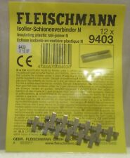 Fleischmann 9403 - 12 x Insulated Rail Joiners (fishplates) for Pre Ballasted N