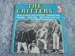 The Critters - Heart Of Love, Head Of Stone 1965 FRANCE EP KAPP
