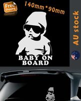 Baby on Board Cool baby Silver Car Sticker Window Sticker 140mm Removable