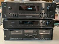 ALL WORKS!! Sony TA-AX311 Amplifier TC-W311 Cassette Player & ST-JX311 Tuner