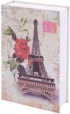 Secret Hidden Book Safe Key Lock Money Cash Security Metal Box Eiffel Tower New