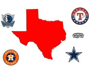 Dallas Cowboys Houston Astros Spurs Rangers Mavericks Texans Houston Rockets