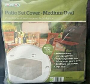 "GARDMAN Patio Set Cover - Medium Oval 191cm (75"") x 208cm (82"") x 95cm (37.4"")"