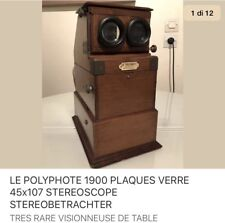 POLIPHOTE 1905 PLAQUES VERRE 45x107 STEREOSCOPE STEREOBETRACHTER STEREOVIEWER