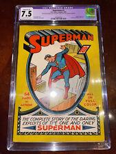 Superman #1 CGC 7.5 (R) 1939 - Mega key Golden Age! Great Investment! M6 513 cm