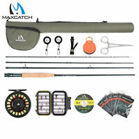Maxcatch 5/6/7/8wt Extreme Fly Fishing Rod and Reel Combo, Fly Line, Box, Flies