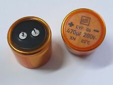 5 Stück - VINTAGE Elko 470µF 200V NOS ROE 35x30mm 85°C RM10 470uF ROEDERSTEIN 5x