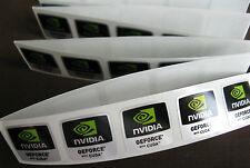 10 pcs NVIDIA GEFORCE with CUDA Sticker Label Logo Decal Case Badge 18mm x 18mm