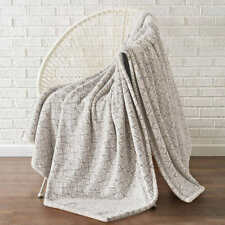 "Monte & Jardin, 70""x60"" Heavyweight Luxury Velvet Blanket Throw (Choose Pattern)"